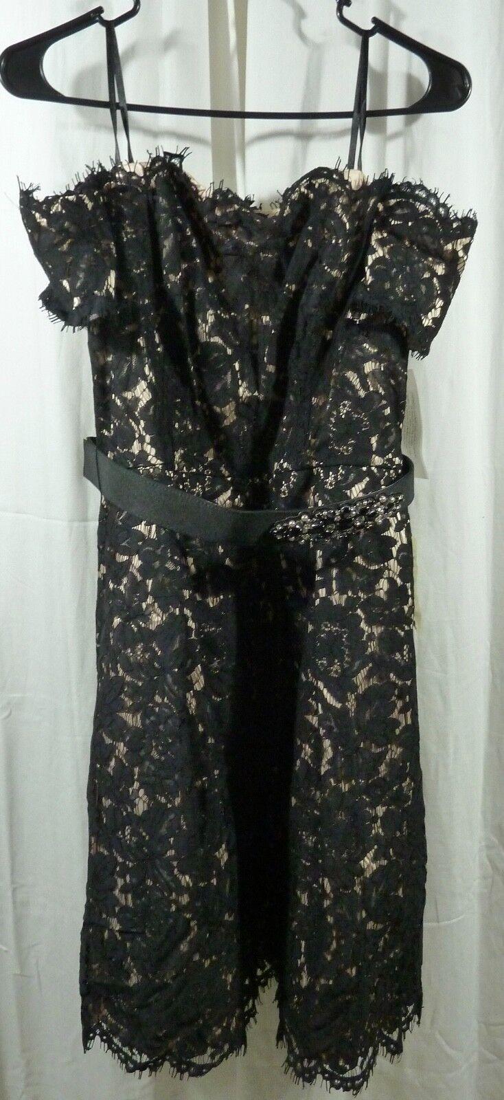 Eliza J Embellished Lace Fit & Flare Dress Größe 10
