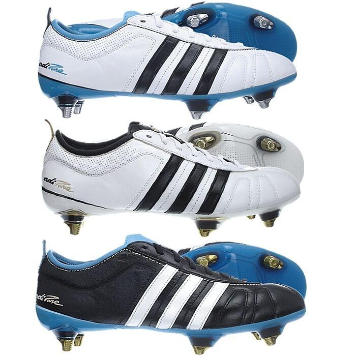 Adidas ADIPURE IV 4 SG white blue black Stollen Fußballschuhe 39 bis 48
