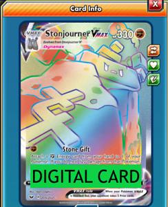 Stonjourner V 115//202 Sword /& Shield PTCGO Online Digital Card