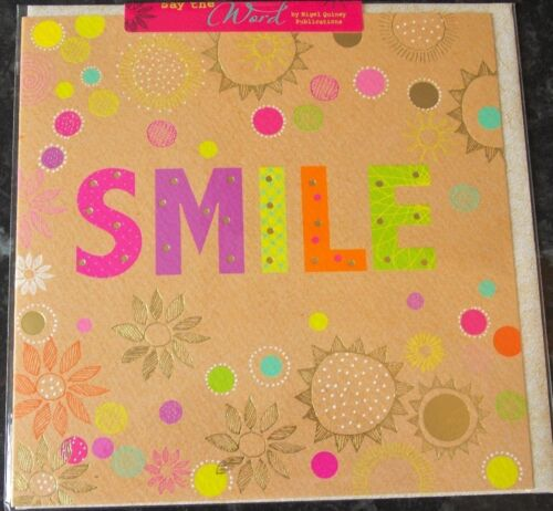Smile Theme Card by Nigel Quiney. Blank Greeting Card