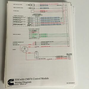 cummins ism cm876 wire diagram 4021574 ebay rh ebay com cummins ism engine wiring diagram cummins ism wiring diagram