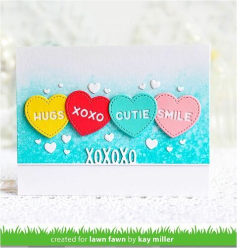 Love  ~LF1827 Lawn Fawn Lawn Cuts Die Set  ~ CANDY HEARTS  Valentine/'s Day
