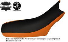 ORANGE & BLACK CUSTOM FITS KTM LC4 640 98-07 DUAL LEATHER SEAT COVER