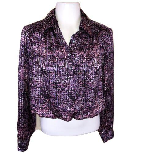 Vintage 80s Koret Collared Long Sleeve Purple Pink