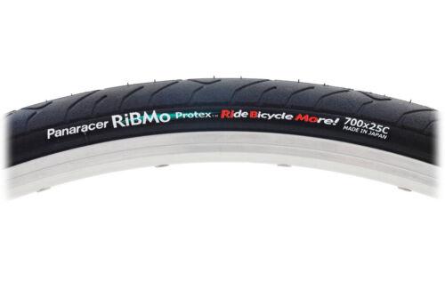 Panaracer Ribmo Wire Clincher Tire 700x25c Black ProTex Shield Track Road Bike