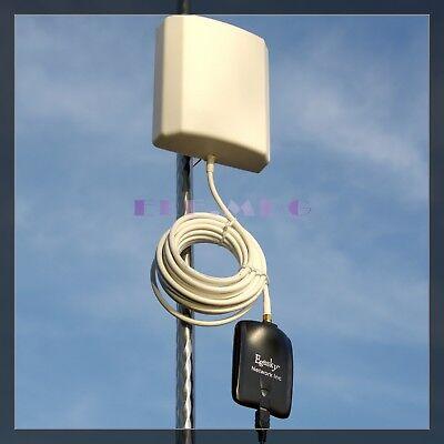 43dBm 2000mW Wireless Wlan WiFi 150Mbps usb Adapter /&10dBi Panel Antenna 5m//16ft
