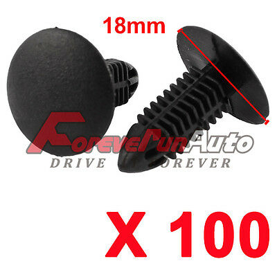 100X6 Model Car Door Fender Repair Fastener Clip Rivets Screws Push for Toyota