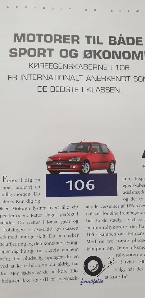 Brochure, Peugeot 106