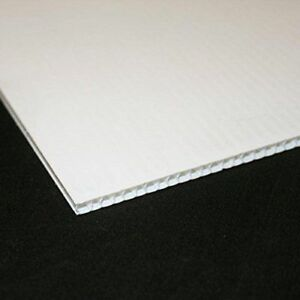 Black Plastic Fluted 3.8mm Correx Board A5-A1 For outdoor display and signage