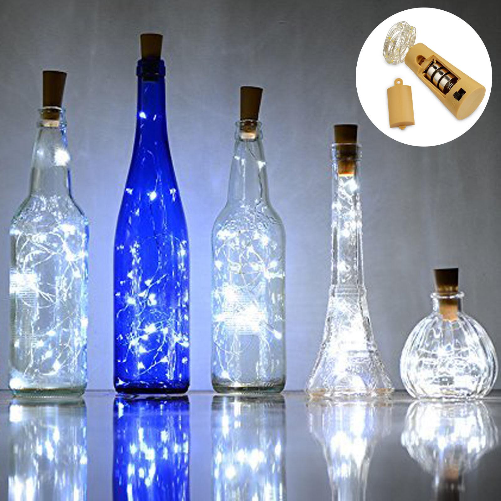 Wine Bottle Cork Led Lights Battery Operated Fairy Mini String Diy Decor For Sale Online Ebay