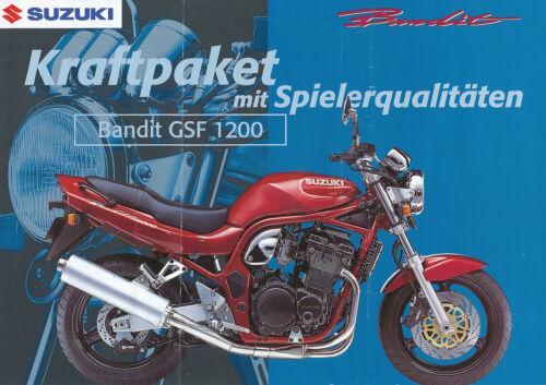 SUZUKI GSF 1200 BANDIT PROSPEKT 11//96 brochure opuscolo MOTO 1996 Giappone