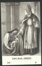 Estampa antigua de San Blas Obispo andachtsbild santino holy card santini