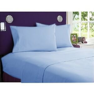 Sky Blue Color All Bedding Items 100 Egyptian Cotton
