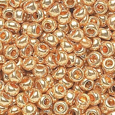 Czech 11/0 Metallic Seed Beads 12-strand Hank
