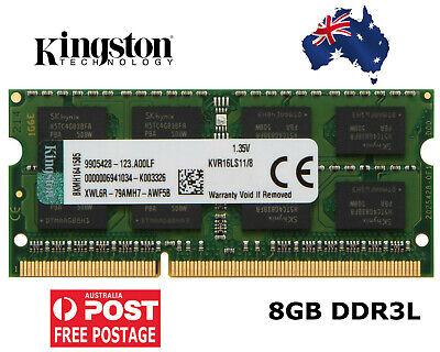 For Kingston 8GB 4GB DDR3L PC3L-12800S 1600MHz SO-DIMM 204Pin 1.35V Laptop RAM