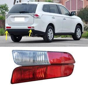 Details about For Mitsubishi Outlander 2014-2015 Rear Fog Brake Light Rear  Bumper light Cover