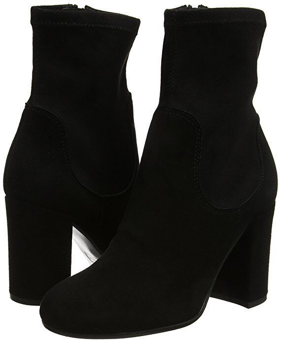 Grandes zapatos con descuento  115 DUNE SIZE 8 41 OLIAH BLACK REAL LEATHER SUEDE HIGH HEEL ANKLE BOOTS NEW