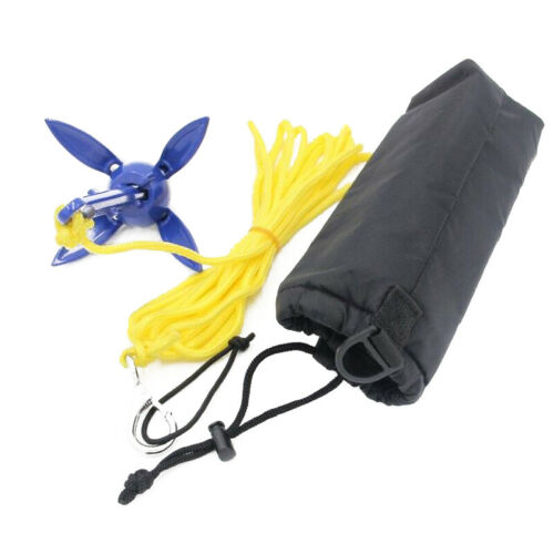 Foldable Aluminum Anchor Kit with Rope for Canoe Kayak Small Boat Sporting Goods