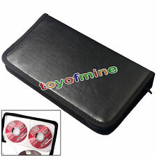 CD Cuoio DVD VCD 80 dischi di archiviazione Holder cassa del raccoglitore