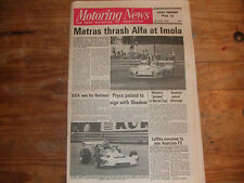 Motoring News 6th June 1974 Imola 1000kms Austrian F2 Indy 500 Zandvoort F5000