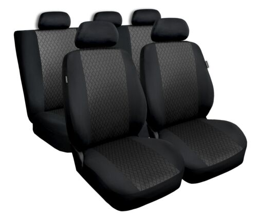 Kia Carens Grau Universal Sitzbezüge Sitzbezug Auto Schonbezüge PROFI