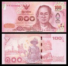 Thailand 100 Baht 2015 King Rama  P-New  UNC