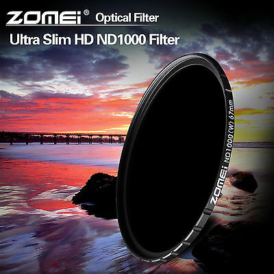 Zomei 10-stop HD ND1000 filter optical slim 58mm for Canon Nikon Sony camera