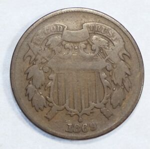 1869-Two-Cent-Piece-VERY-GOOD-2-Cents