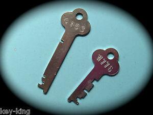 FLAT STEEL Locker Keys Cut From Code Number Cabinet, Desk & Locker Key-Free Post