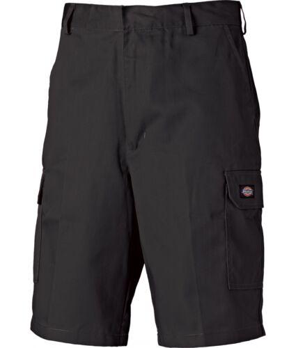 degli uomini del commercio resistente varie dimensioni Dickies Redhawk Cargo Lavoro Pantaloni Corti Neri