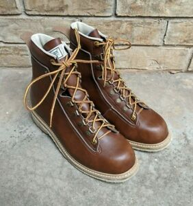 Ll Bean Vintage Leather Fly Fishing Angler Wading Boots Shoes Men S 8 Felt Sole Ebay