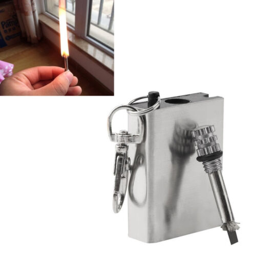 1X Emergency Fire Starter Flint Match Lighter Outdoors Campings Survivals Tools