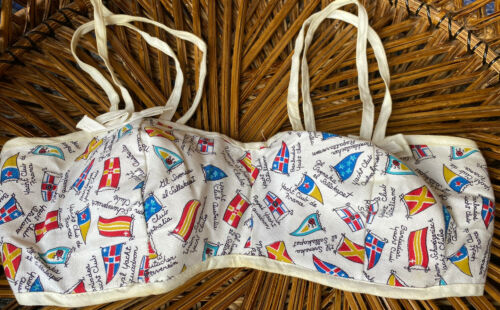 Vintage 1940s 1950s Novelty Nautical World Flags B