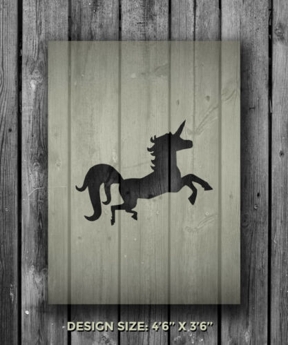 A5 Unicorn Mylar Reusable Stencil Airbrush Painting Art Craft DIY Home Deco