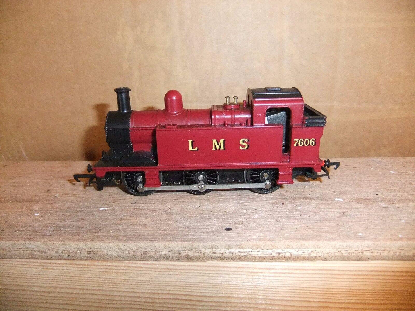 Tri-ang LMS  Maroon 'Jinty' 0-6-0 tank loco 7606, not boxed