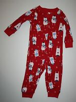 Gymboree Gymmies Red Bears Sleep N Play Outfit 3-6m 6-12m 12-18m 18-24m