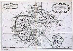 Antique-map-Carte-De-L-039-Isle-de-la-Guadeloupe