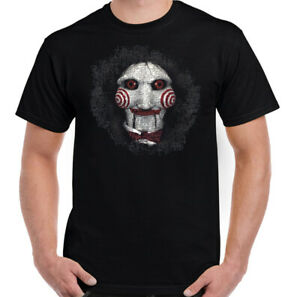 Saw-T-Shirt-Mens-Jigsaw-Mask-Halloween-Horror-Movie-Unisex-Top-Scary