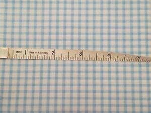 BLACK /& WHITE CHECK FABRIC COTTON PER METER 152cm wide squires are 20mm x 23mm