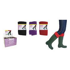 Purple Extra Long Warm Winter Wellies Homeknit Ladies Wellington Boot Socks