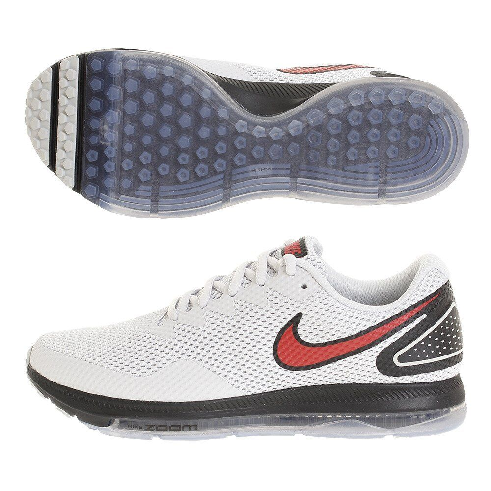Nike Men's Zoom All Out Low 2 Running Shoe Pure Platinum/University Red Black