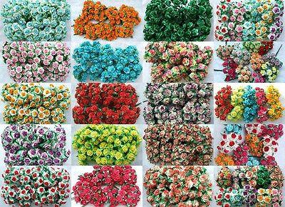 400 MULBERRY PAPER ROSE FLOWER WHOLESALE LOTS ARTIFICIAL CRAFT SCRAPBOOK 1.5 CM.
