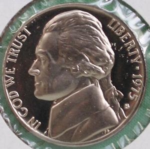 1975 Proof Jefferson Nickel from U.S Proof Set