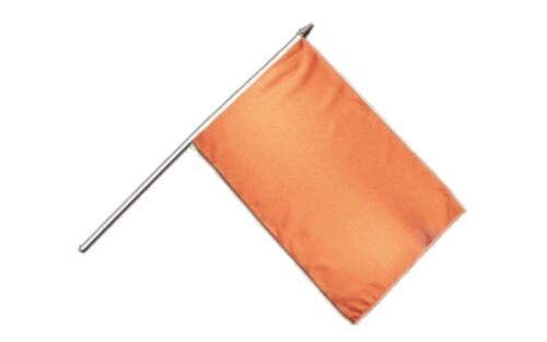 Einfarbig Orange Stockflagge Flaggen Fahnen Stockfahne 30x45cm