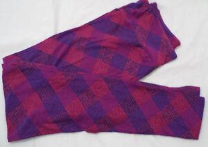 875477f06d60b2 Women's LuLaRoe OS One Size Leggings Purple Check NEW | eBay