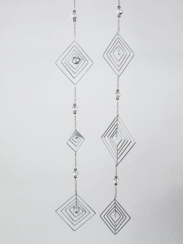 Hängevorrichtung 2871bo Windspiel Fensterhänger mit Glaskugel Raute 90 cm m
