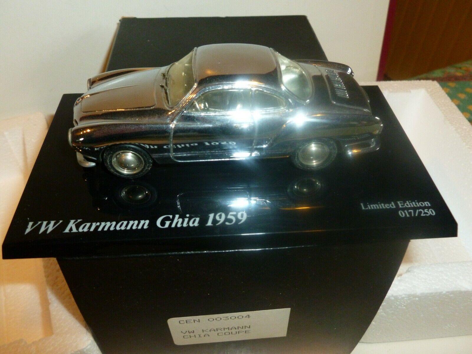 AMR CENTURY VW KARMANN GHIA 1959 COUPE ED LIMITEE  017 250 ETAT NEUF CHROME