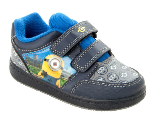BOYS DESPICABLE ME MINION NAVY BLUE CASUAL TRAINERS SHOES BOOTS KIDS UK SIZE 7-1