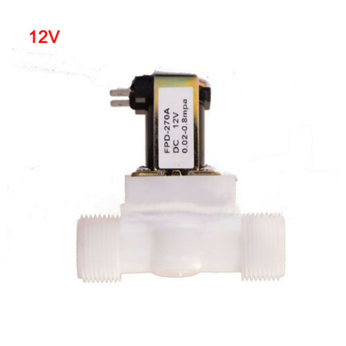 1//2Inch Electric Solenoid Valve Magnetic DC N//C Water Air Inlet Flow Switch HOT