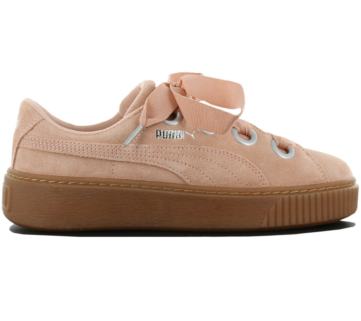 Puma Platform Kiss Suede Women's Sneakers 366461-03 Leather shoes Gym shoes New